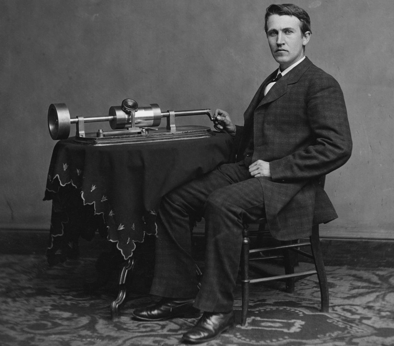 Inventatorul Thomas Edison. Foto: Levin Corbin Handy, 1878