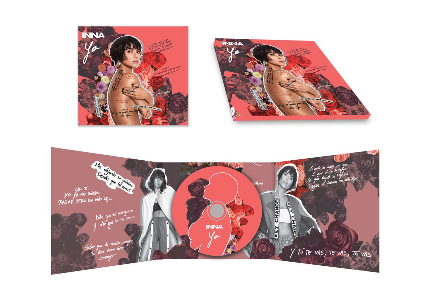 Mockup pentru albumul Yo de la INNA.