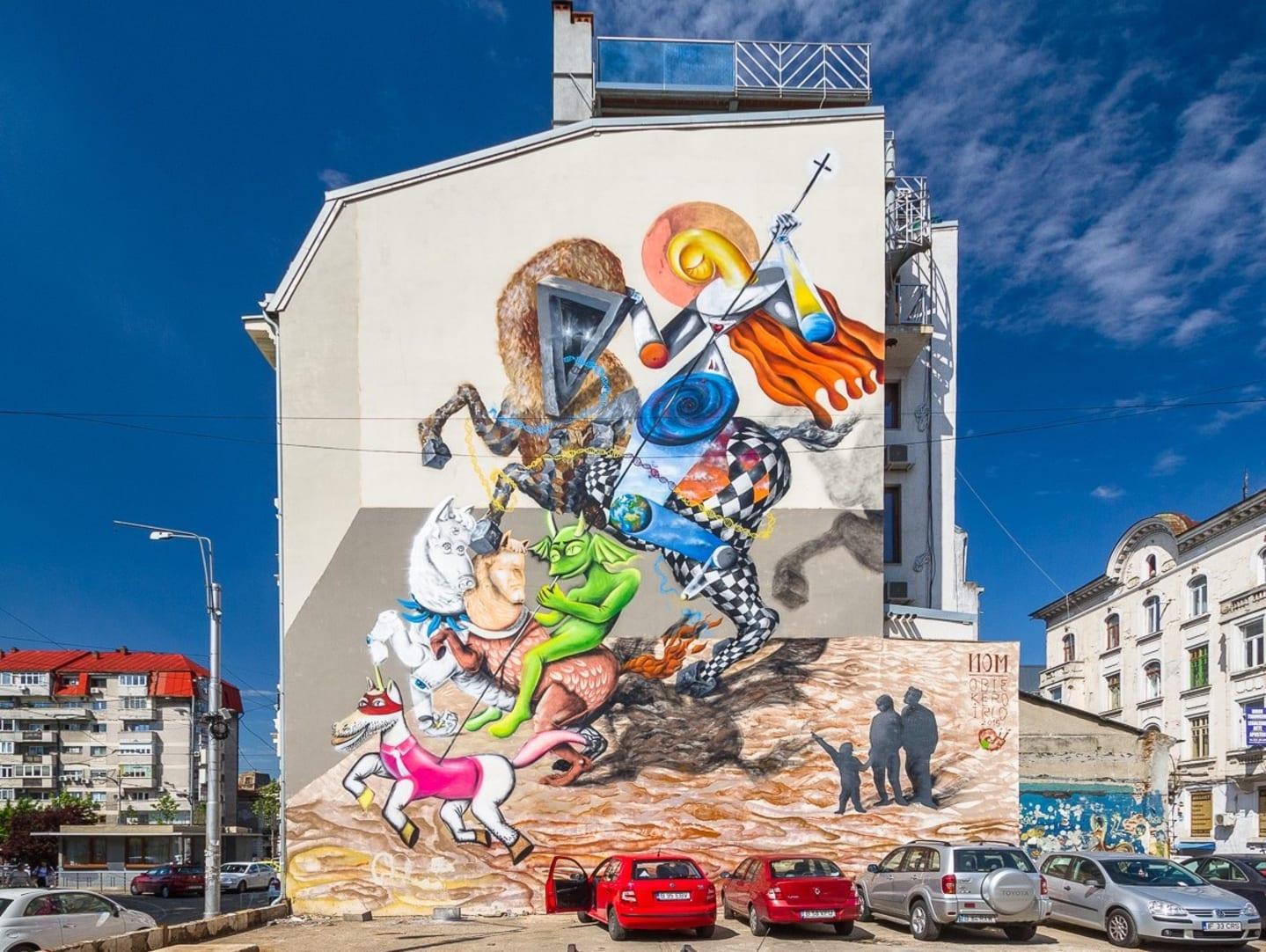 Mural Sfântu Gheorghe. Foto: bucurestiulmeudrag.ro