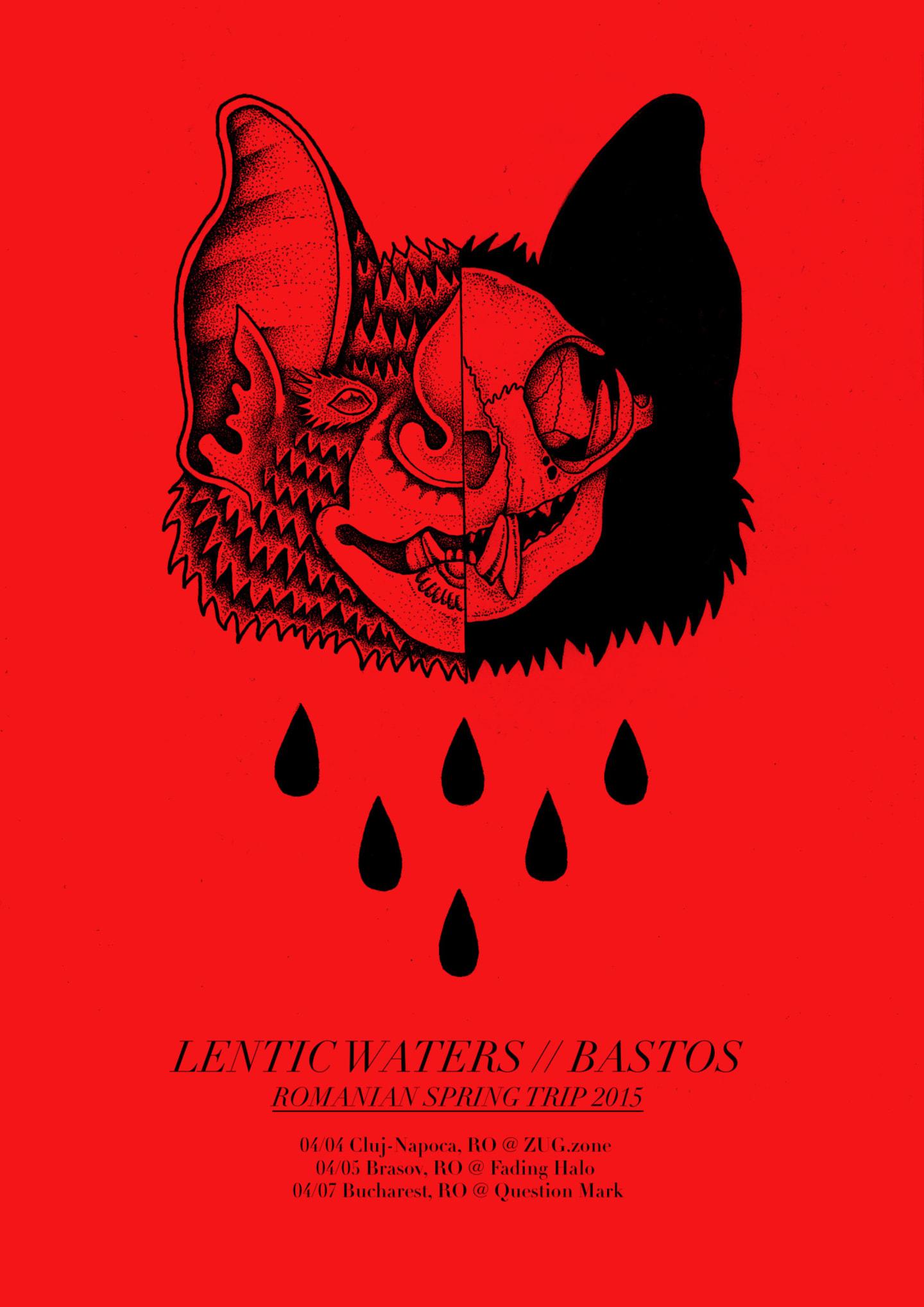 Poster pentru tour-ul Lentic Waters // Bastos (2015)