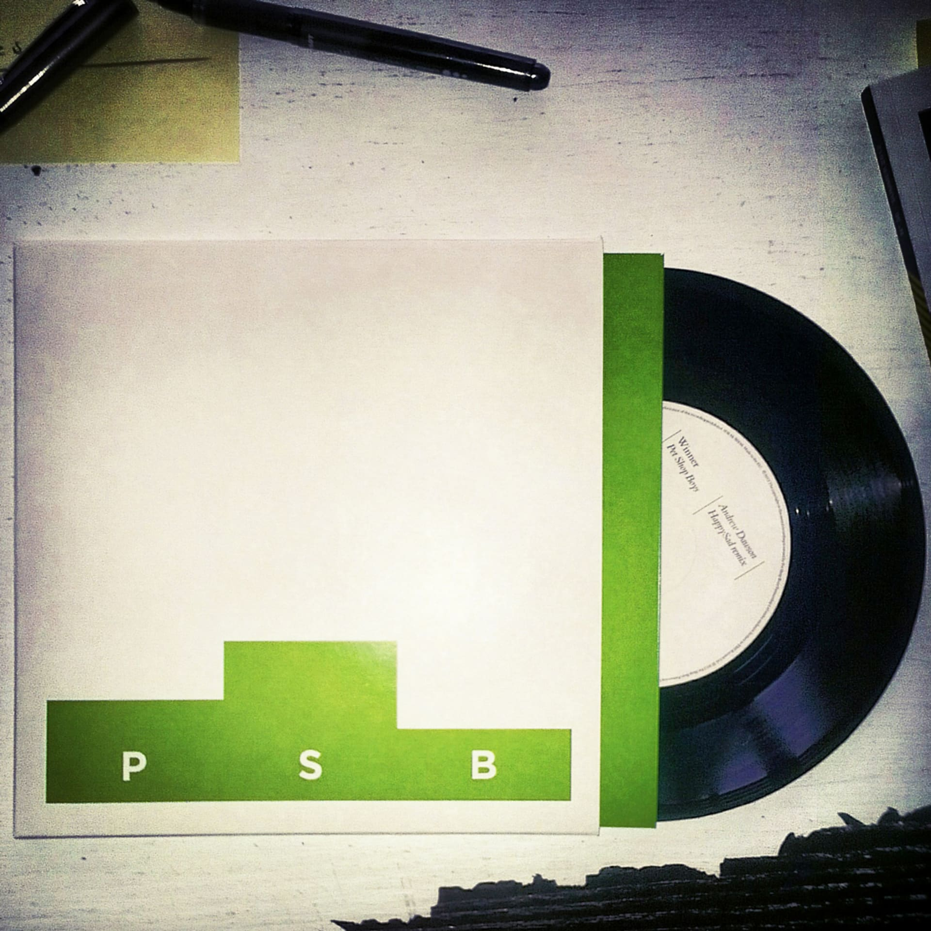 Pet Shop Boys Winner Andrew Dawson HappySad Remix 7-Inch Single Electronic Beats