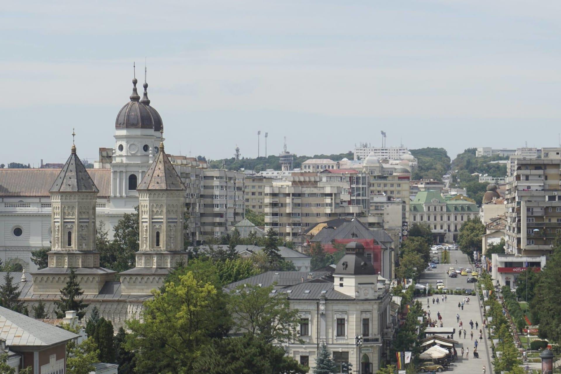 Palatul Culturii. Vedere din Turnul cu Ceas