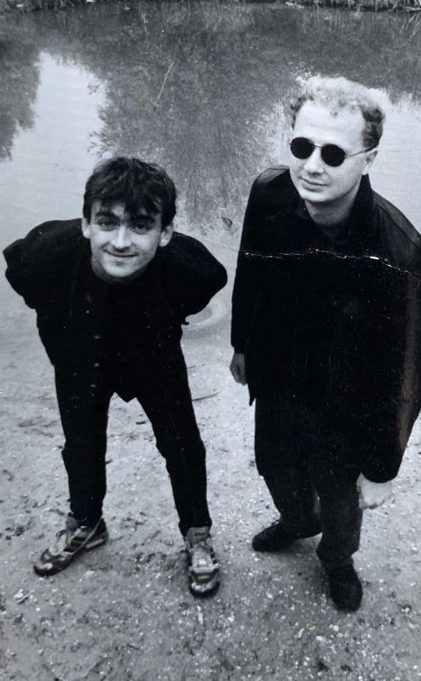 Rozmán Zoltán és Prieger Szabolcs (hajjal!) a kilencvenes évek elején