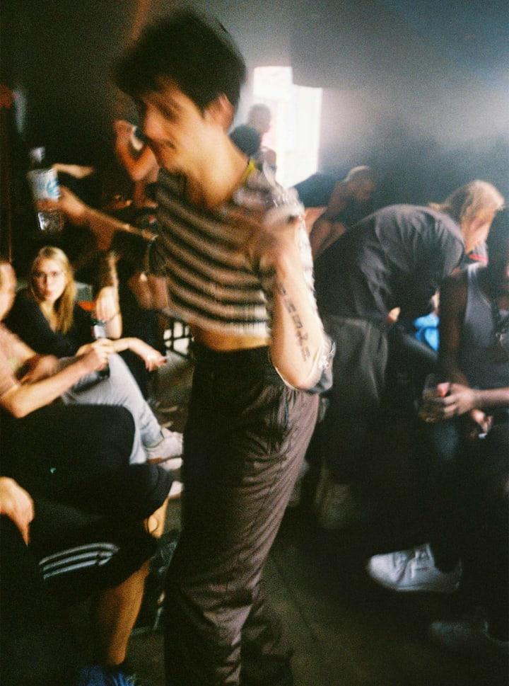 Buttons about blank berlin Techno Party Friedrichshain