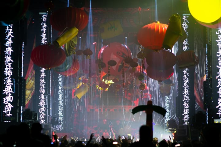 Some of the parties at Amsterdam Dance Event had incredible decorations.