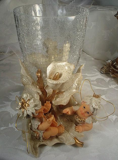 10757-Large Fairy Tall Vase Centerpiece