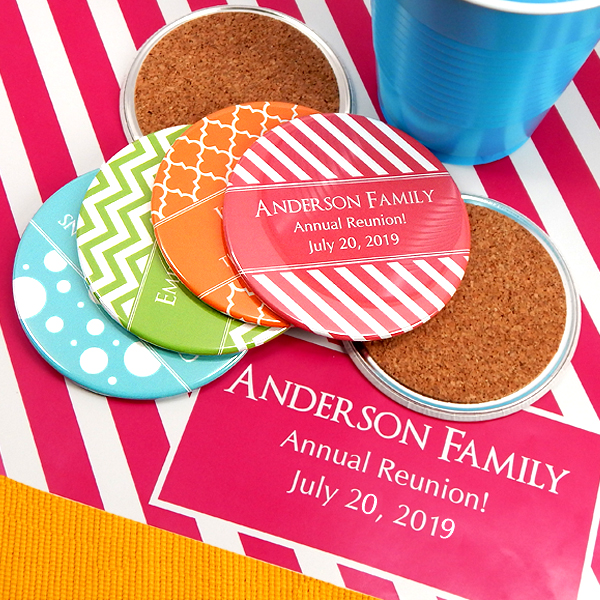 1594000--Personalized Two Sided Coasters Silhouette Collection