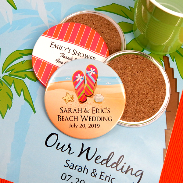 1597000--Personalized Two Sided Wedding Coasters