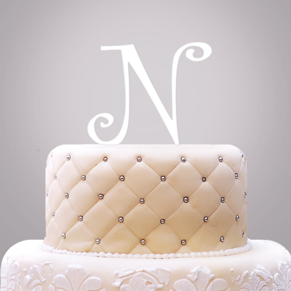 2519009--Personalized Single Initial Cake Topper