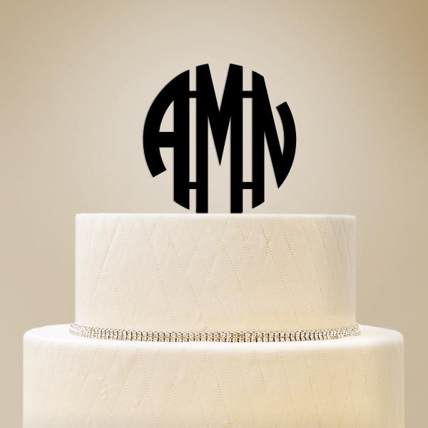 2519010--Monogram Initials Cake Topper