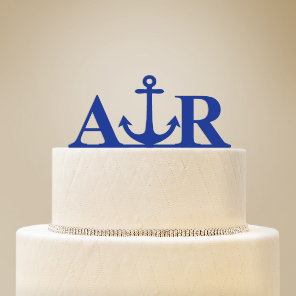 2519013--Personalized Initials With Icon Cake Topper