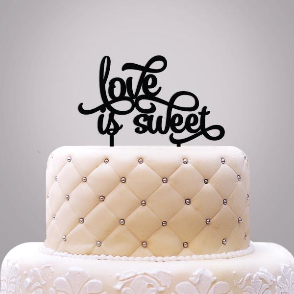 2519020--Love Is Sweet Cake Topper
