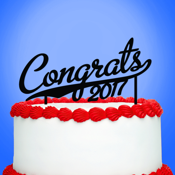 2519031--Congrats With Year Cake Topper