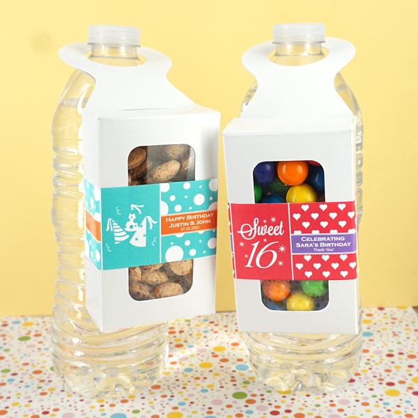 3045150--Kids Birthday Bottle Hanger Favor Boxes
