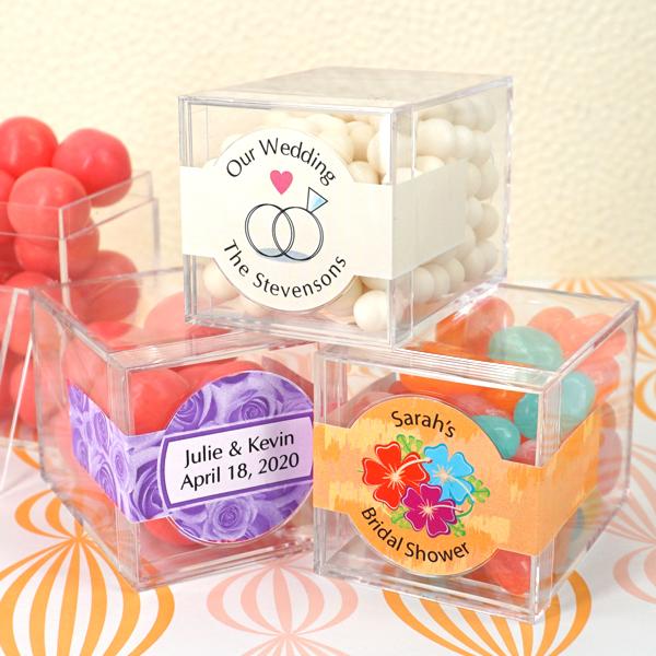 3087000--Clear Acrylic Wedding Favor Boxes 1 5/8 Inch X 1 5/8 Inch X 2 14