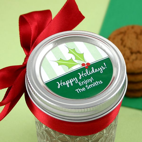 3706000--2 Inch Circle Holiday Label Set Of 15