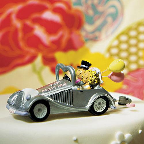 Wedding Get-a-way Car Figurine