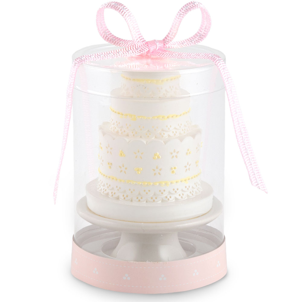 Elegant Lace Wedding Cake Candle – Elegant Weddings +