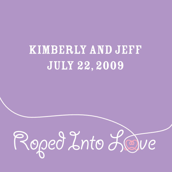 "Western ""Roped into Love"" Favor / Place Cards Lavender"