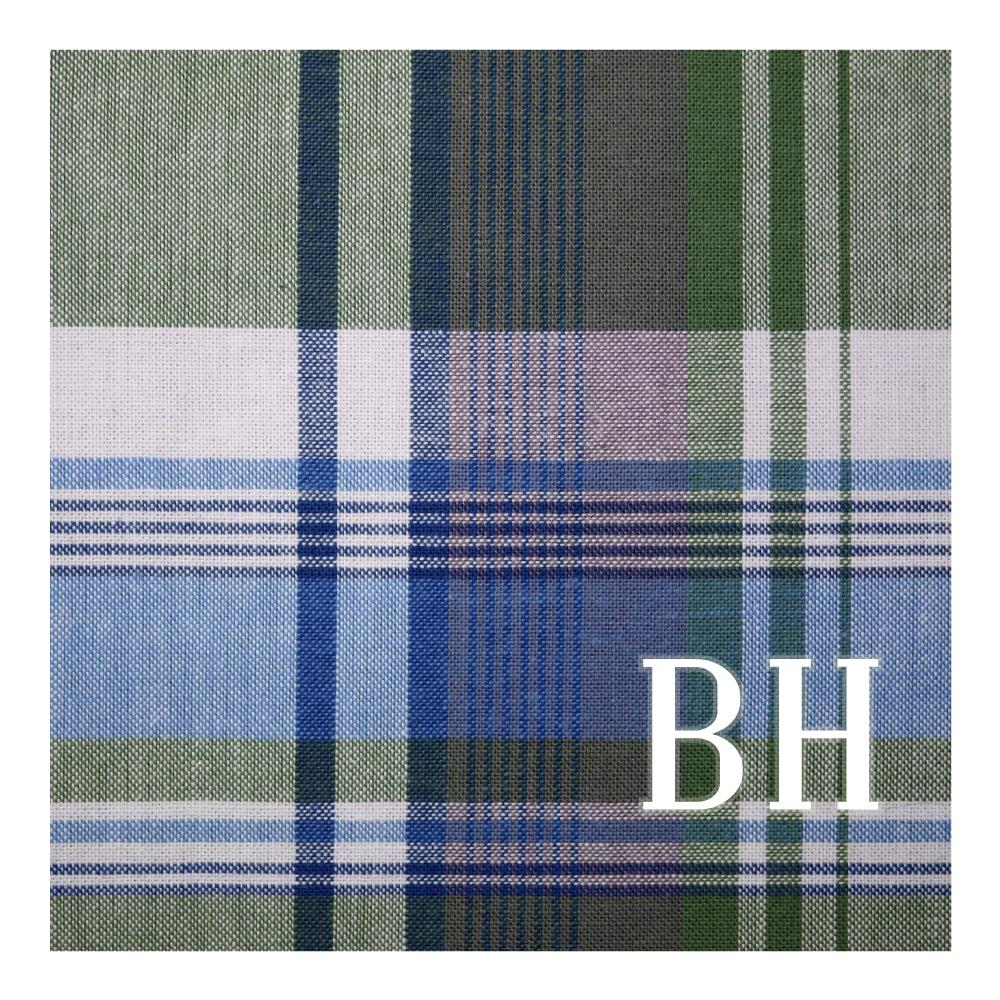 Men's Fabric Print Personalized Handkerchief Blue Plaid
