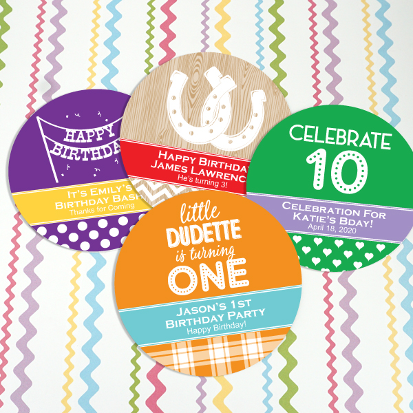 9295150--Kids Birthday Paper Coasters
