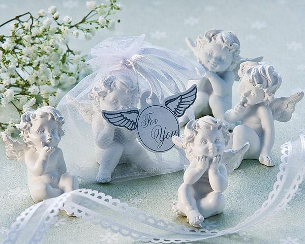 Little Angel Cherub Figurine Favors Set Of 4