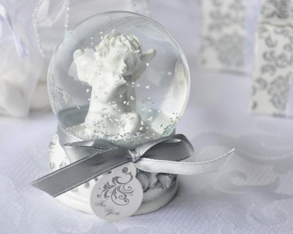 Angel Kisses Cherub Snow Globe Favor