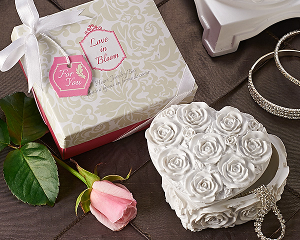 Love In Bloom Heart Jewelry & Trinket Box