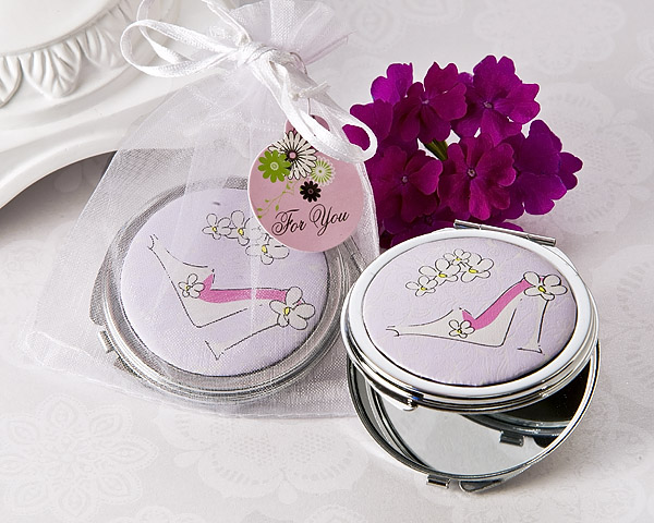 Sassy Stiletto High Heel Compact Mirror Favor