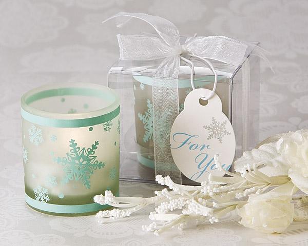 Winter Lights Snowflake Tea Light Candle Holder Pack Of 4