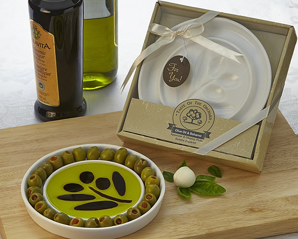 Taste Of The Orchard Oil Vinegar Dipping & Appetizer Plate