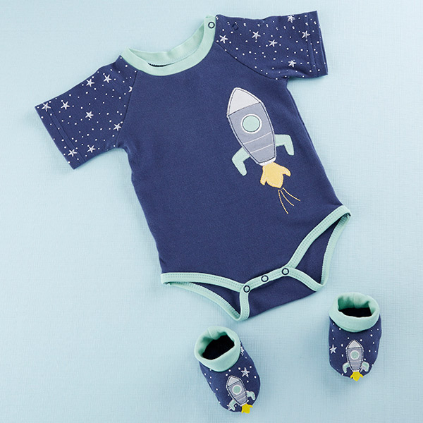 BA16092BL-Cosmo Tot Spaceship 2 Piece Layette Set
