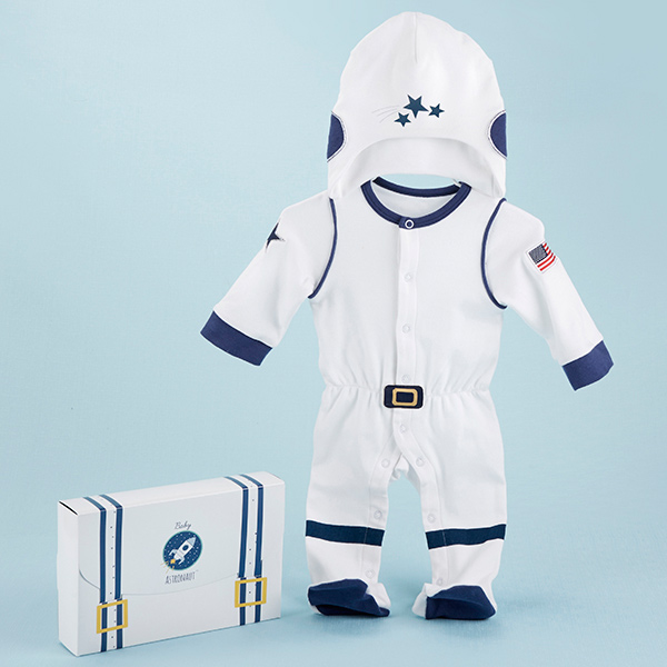 BA16093BL-Big Dreamzzz Baby Astronaut 2 Piece Layette Set-Initial or Monogram