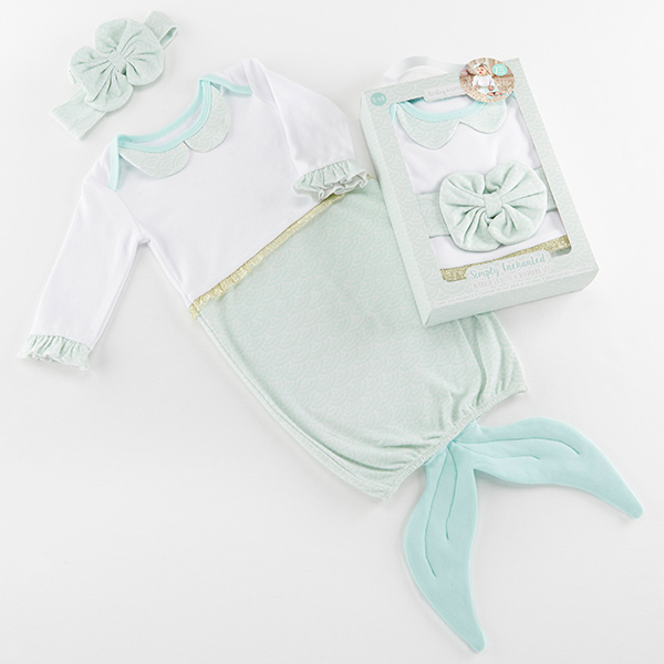 BA16104NA-Simply Enchanted Mermaid 2 Piece Layette Set-