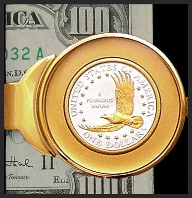 C373-ED2 Eagle Dollar Money Clip