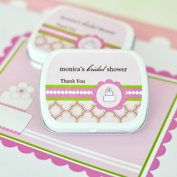 EB1049PC-Personalized Mint Tins Pink Cake