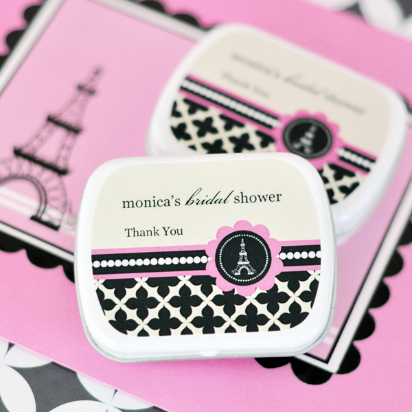 EB1049PP-Personalized Mint Tins Parisian Party