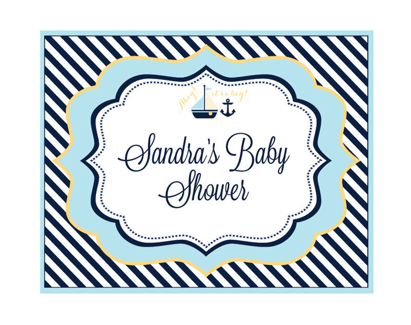 EB3003NBS-Nautical Baby Shower Party Sign