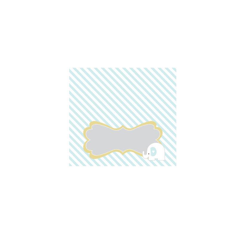 EB3006BEL-Blue Elephant Menu Cards Place Cards Set Of 6