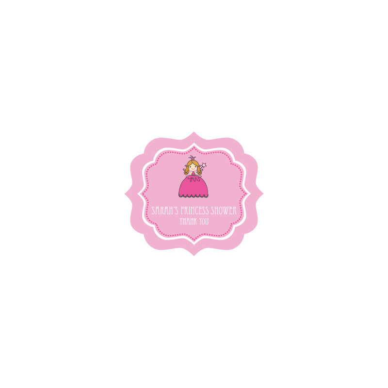 EB3020PRP-Princess Party Frame Personalized Labels
