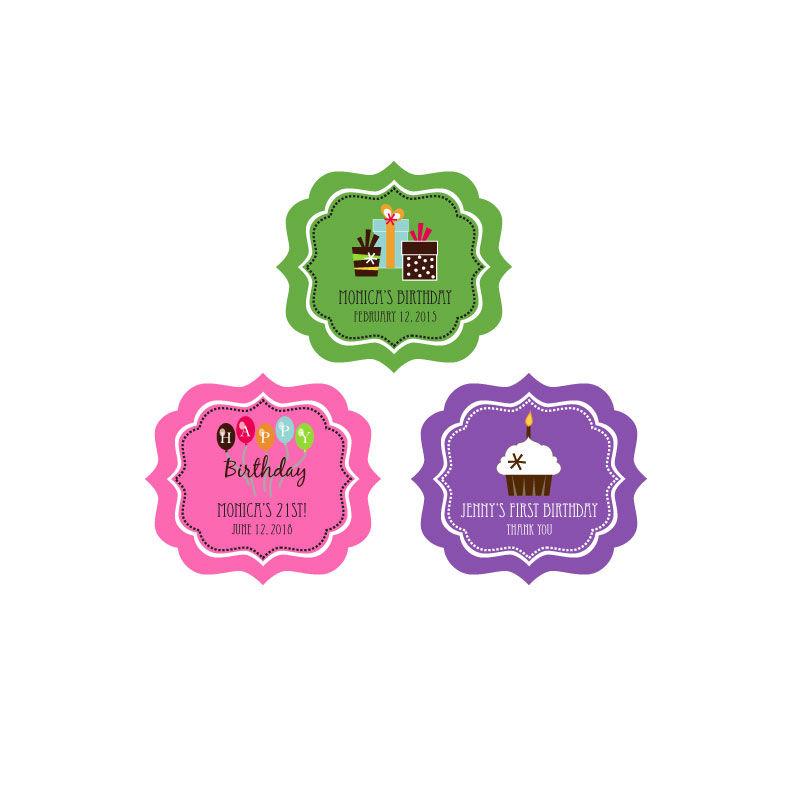 EB3020YZ-Personalized Birthday Frame Labels