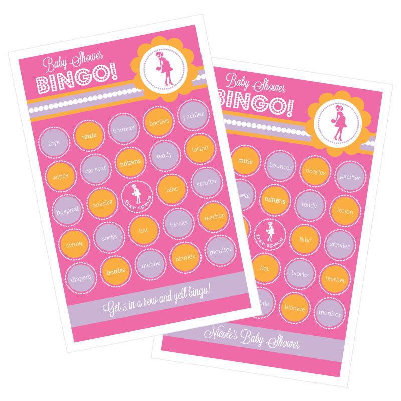 EB3021GPP-She's Going To Pop Pink Bingo Set Of 16