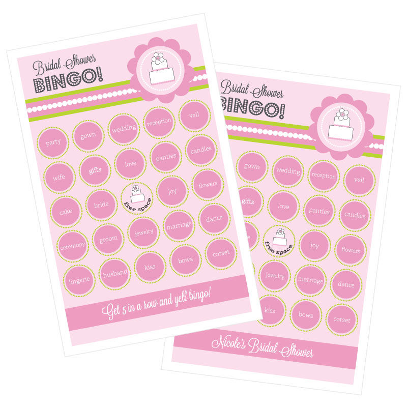EB3021PC-Pink Cake Bingo Set Of 16