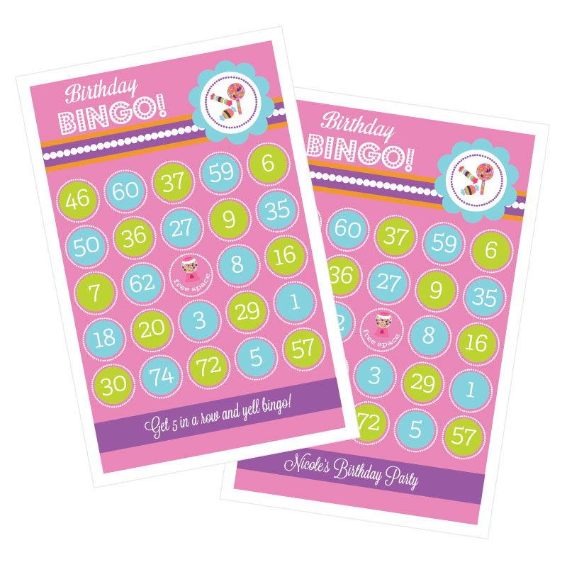 EB3021SH-Sweet Shoppe Party Bingo Set Of 16