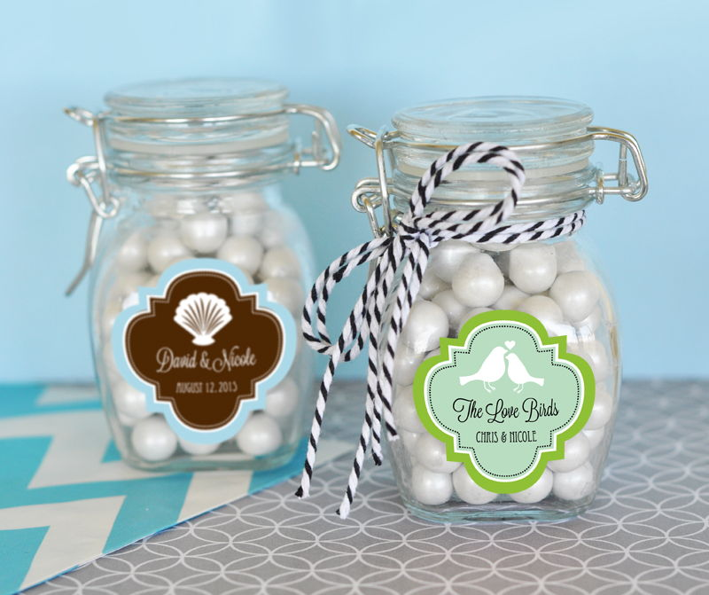 EB3024MDT-Personalized Mod Pattern Theme Glass Jar With Swing Top Lid Small