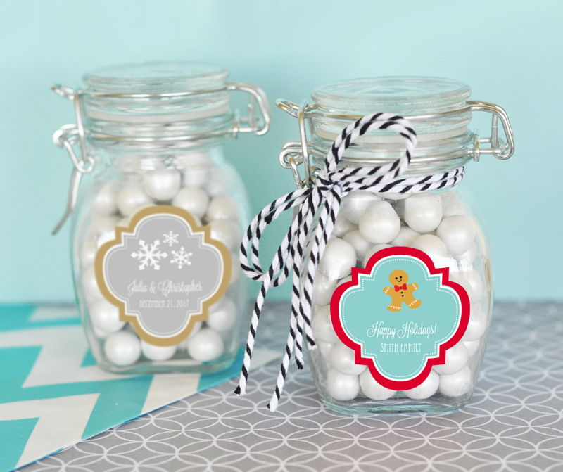 EB3024W-Personalized Glass Jar With Swing Top Lid Small
