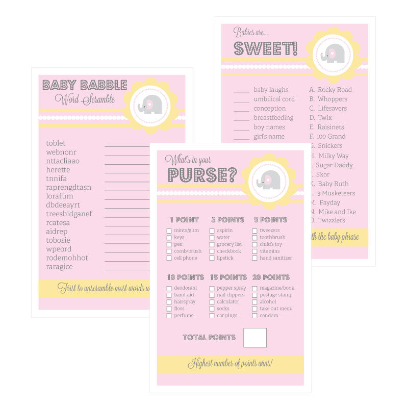 EB3027PEL-Baby Shower Games Set Of 10