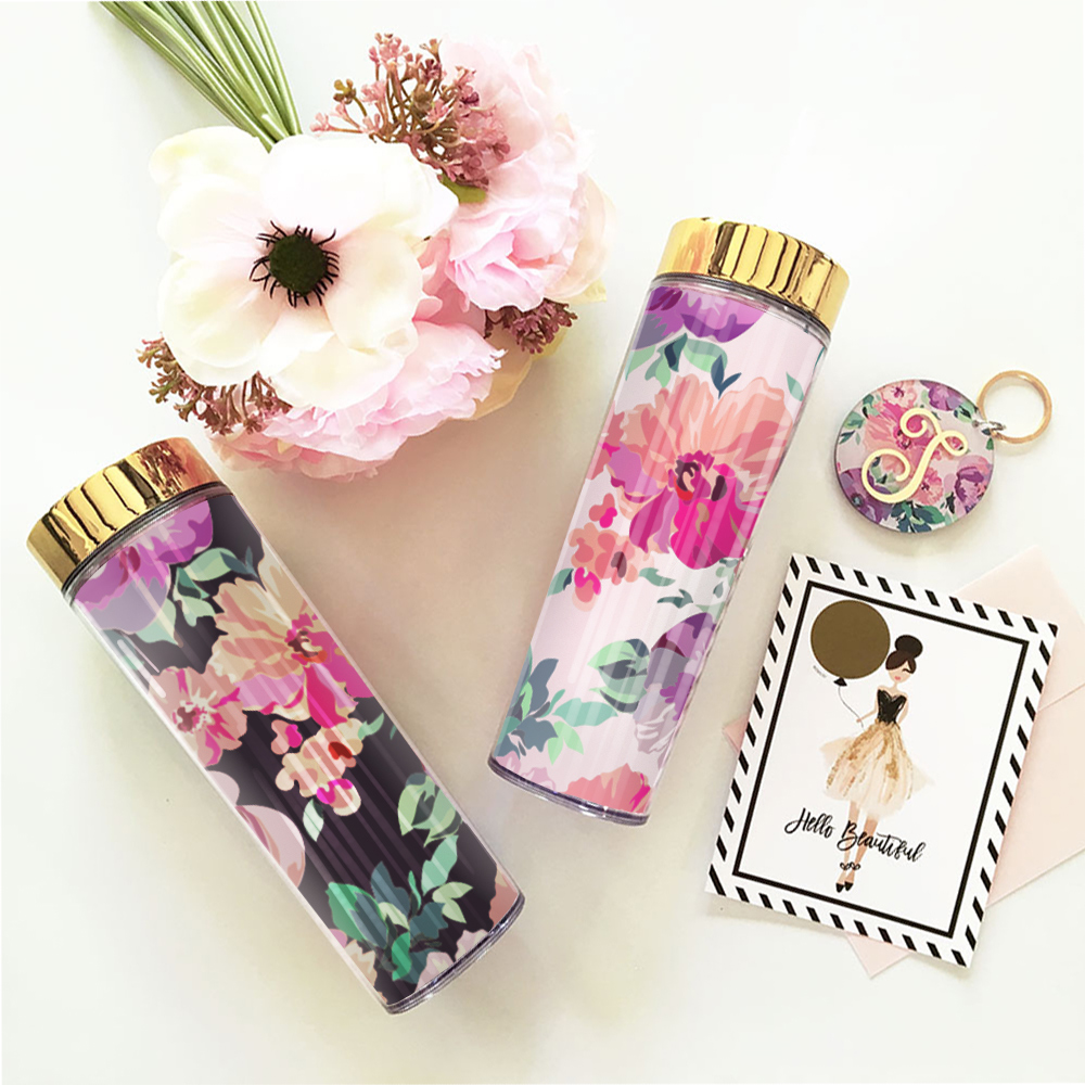 EB3113NP-Blank Floral Tall Tumblers