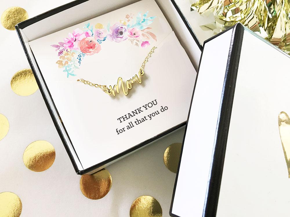 EB3151MOM-Gold Mom Necklace