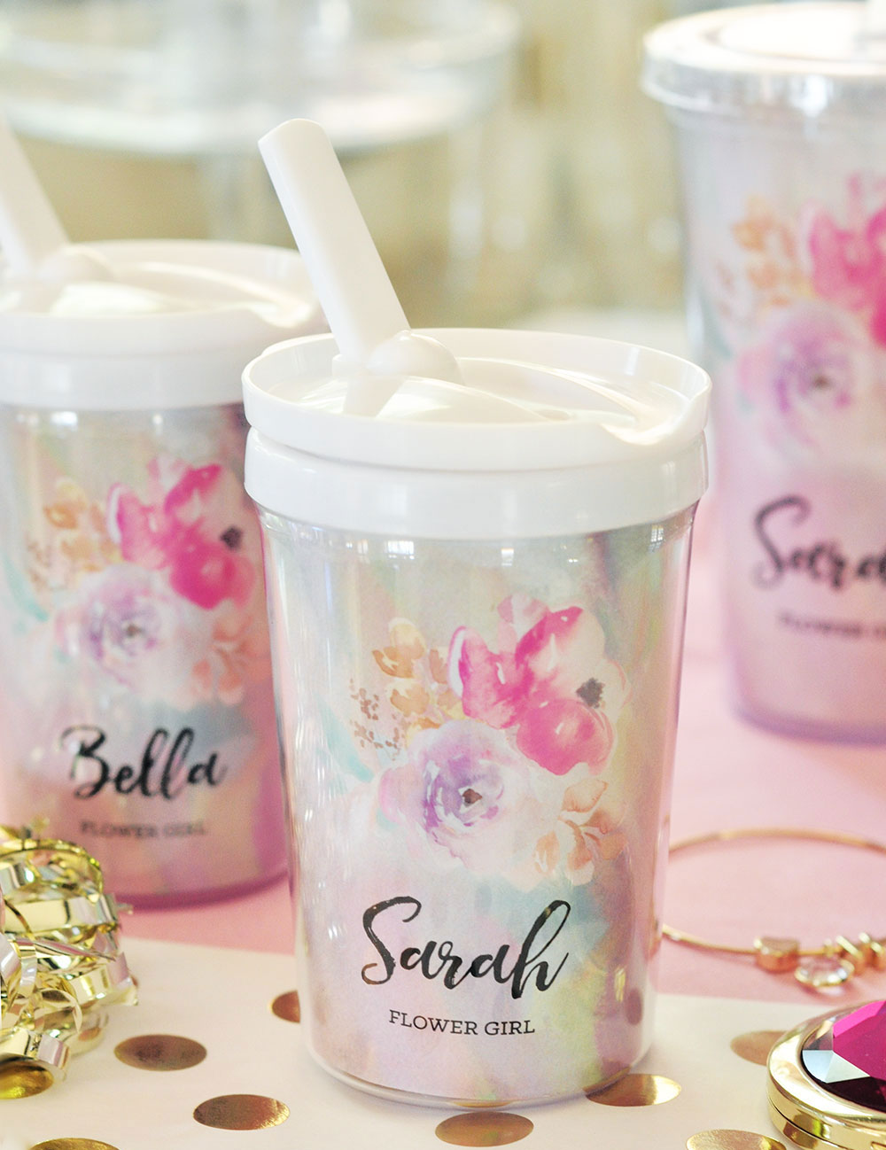 EB3158FLG-Flower Girl Sippy Cups